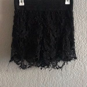 Lace H&M high waisted shorts